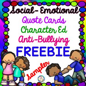FREEBIE, Social Emotional, Character Education, Anti-Bullying
